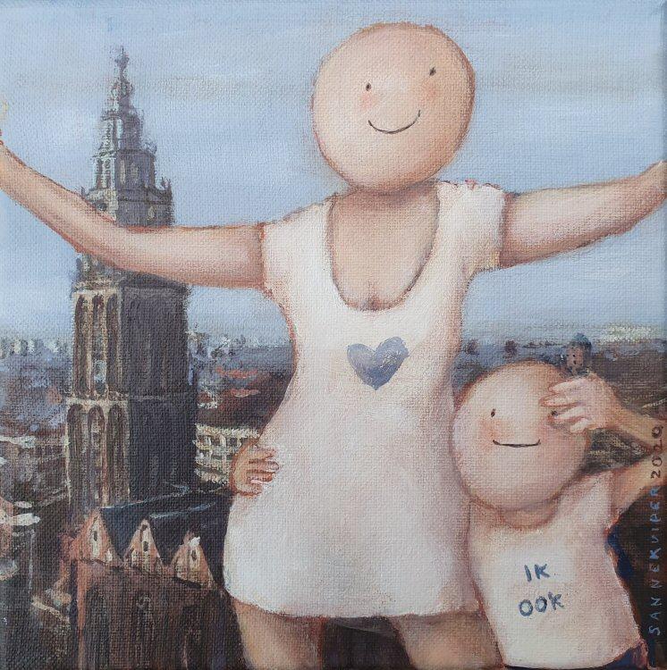 2020 Ik hou van Groningen 20 x 20 cm acryl op doek