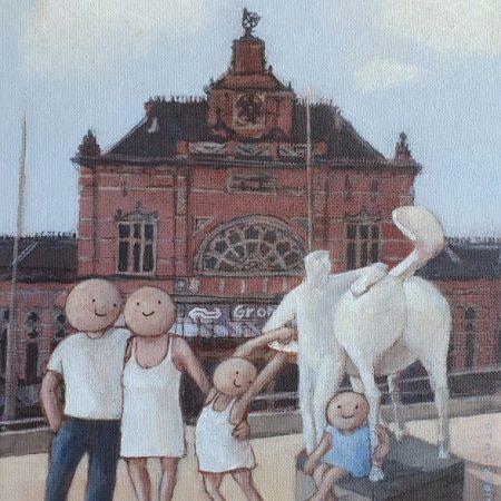2020 Dagje Groningen 24 x 30 cm acryl op doek web