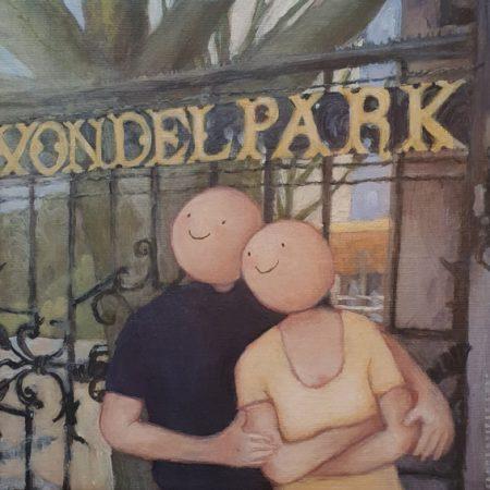 2020 Liefde in het park 30 x 30 cm € 235,- verkocht
