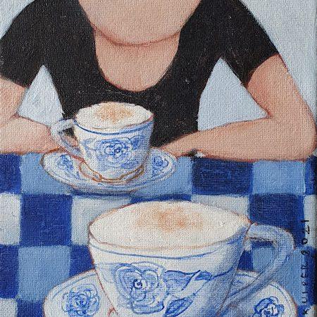 2021 Koffie voor twee 18 x 13 cm (Bij Artacasa) verkocht