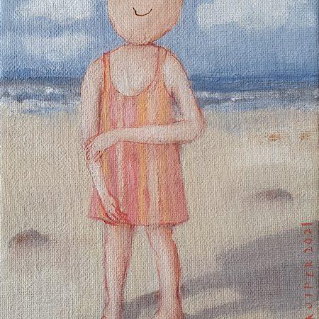 2021 Kleine strandloper 18 x 13 cm € 115,- (bij Artacasa)